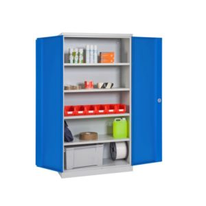 armoire haute porte pleine bleu