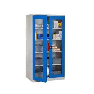 armoire haute porte transparente